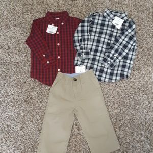 NEW Janie and Jack baby boy outfits 12-18 mon